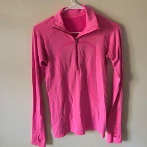 Lululemon Pink Quarter Zip Size 4